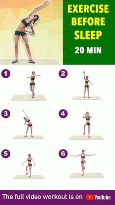 Night Workout, Bed Workout, Full Body Gym Workout, Gym Workout Tips, Fitness Workout For Women, Easy Workouts, Workout Videos, Wall Workout, Gym Workout For Beginners