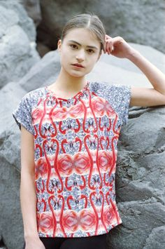 (vu) flamingo print shirt.