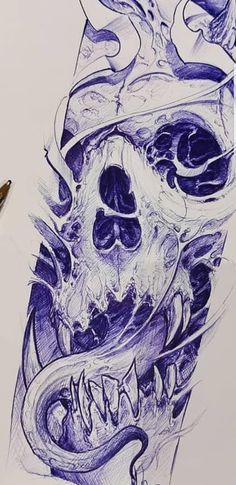 Sick Drawings, Dark Art Drawings, Outline Drawings, Tattoo Drawings, Sketch Tattoo Design, Skull Tattoo Design, Dragon Tattoo Designs, Evil Tattoos, Skull Tattoos