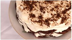 This is the easiest dessert ever and one I'm told is famous for being an Australian favorite for birthday cakes. It's assembled by icing cookies with cream. Easy Desserts, Dessert Recipes, Pastry Recipes, Greek Recipes, Cake Plates, Cooking Time, Yummy Treats, Food To Make, Sweet Tooth
