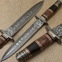Rody Stan RARE CUSTOM HAND MADE DAMASCUS ART DAGGER KNIFE - PT-2888