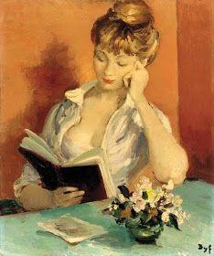 """Girl Reading"", by Marcel Dyf (French, Marcel, Reading Art, Woman Reading, Illustrations, Illustration Art, People Reading, Books To Read For Women, World Of Books, Deviant Art"