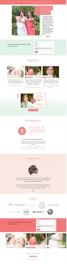 Squarespace web design | Home page design for acupunture and fertility specialist | design by Jodi Neufeld Design
