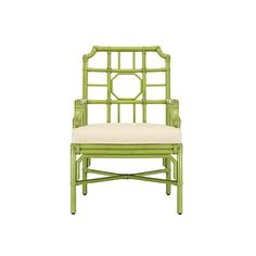 Selamat Eloise Rattan Armchair Kiwi/Ivory Arm Chairs ($599) ❤ liked on Polyvore featuring home, furniture, chairs, accent chairs, cream armchair, rattan chairs, beige chair, padded chairs and beige armchair