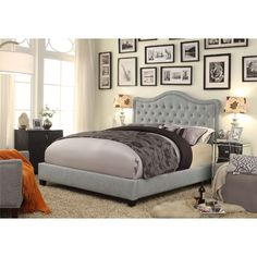 FREE SHIPPING! Shop Wayfair for Mulhouse Furniture Adella Upholstered Platform Bed - Great Deals on all Furniture products with the best selection to choose from!