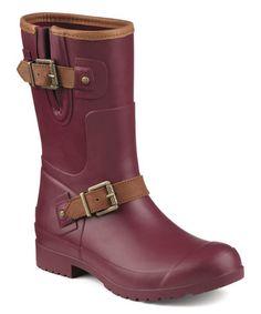 Another great find on #zulily! Burgundy Walker Fog Rain Boot #zulilyfinds