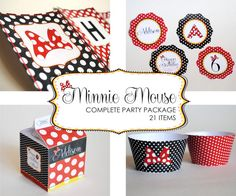 All 21 Party Items Inspired by Minnie Mouse  by LisaKaydesigns