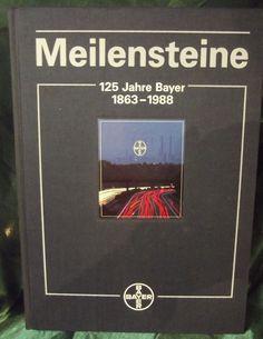 #Meilensteine Milestones Jahre #Bayer 1863-1988 #German Book Hard Shell Slip Case