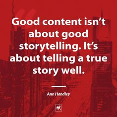 Telling your story is essential to marketing.