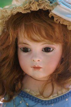 Adorable baby faced Bru Jeune Bebe marked 7 Beautiful Bebes Antique Dolls~