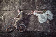 idée originale de photo de mariage drôle et sympa