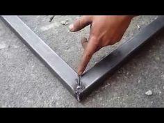 como cuadrar y soldar un marco con tubo cuadrado para un cajero Automático…