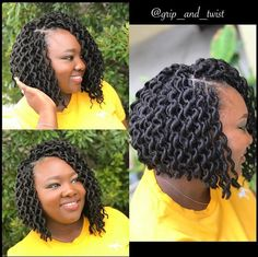 40 Short Crochet Hairstyles Crochet styles are cute, versatile, and a great alternative to other protective styles like braids, twists, and weaves. Here are 40 great short crochet styles. Box Braids Hairstyles, My Hairstyle, Short Crochet Braids Hairstyles, Crochet Bob Braids, Hairstyles 2016, Black Hairstyles Crochet, Short Bob Braids, Short Kinky Twists, Crochets Braids