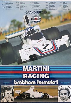 José Carlos Pace (Brazil) and Carlos Reutemann driving for Brabham Martini Racing 1975