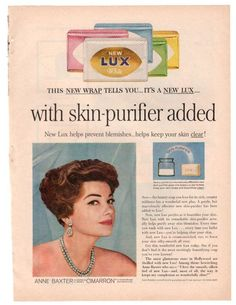 Vintage 1960 Lux Beauty Soap Magazine Print Ad Hollywood Movie Star Advertisement