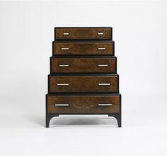 One regal work of furniture design: Pierre Dresser - Burled Walnut/Black Lacquer via Dwell Studio