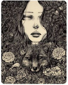 Pin by Stephanie on Art and Illustration Kunst Inspo, Art Inspo, Art And Illustration, Arte Sketchbook, Arte Horror, Dark Art, Amazing Art, Illustrators, Art Drawings