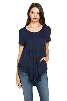 My Space Clothing Women's Front Pocket Knit Tunic Top (Medium, Navy) My Space Clothing http://www.amazon.com/dp/B01BE91RUM/ref=cm_sw_r_pi_dp_CXJSwb1PCCD5T