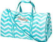 Personalized Chevron Zig Zag Duffle / duffel bag - travel, dance, cheer, gym, camp-- Great  Gift Idea