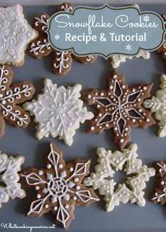 Beautiful festive cookies! How To Make Snowflake Cookies - Recipe & Tutorial     whatscookingamerica.net