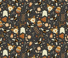busy_bumbles fabric by matthew_tindal on Spoonflower - custom fabric