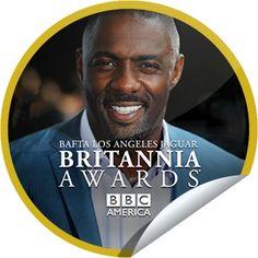Steffie Doll's The BAFTA LA Jaguar Britannia Awards 2013: Idris Elba Sticker | GetGlue
