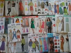 Bulk Lot Over 25 New Look Kids Ladies Sewing Patterns  Mostly Uncut