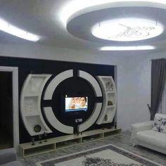 wall decor your wall's magic formula! Wall Unit Designs, Living Room Tv Unit Designs, Ceiling Design Living Room, Bedroom False Ceiling Design, Tv Unit Decor, Tv Wall Decor, Ceiling Decor, Tv Cabinet Design, Tv Wall Design