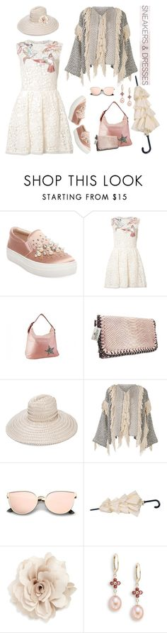 """""""Sneakers & Dress for Spring 2017"""" by ragnh-mjos ❤ liked on Polyvore featuring Steve Madden, RED Valentino, Gigi Burris Millinery, Ulla Johnson, Cara and Saks Fifth Avenue"""