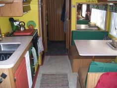 RV remodeling (How to paint over wallpaper, and make curtains.)