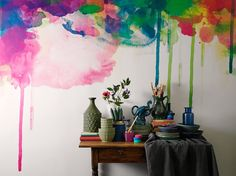 watercolor mural -- I didn't know I needed this before.
