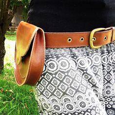 Cartucheira couro leather bag handmade beltbag