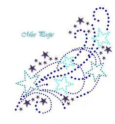 Pluie d'étoiles en strass / Vallende Ster