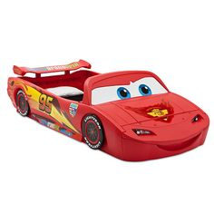"""Disney Pixar Cars Convertible Toddler to Twin Bed with Lights and Toy Box - Delta - Toys """"R"""" Us"""