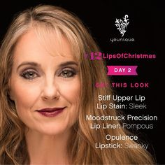On the second day of #12LipsOfChristmas... We love this rich berry look on Teah from Younique Customer Support  Tag a friend who'd rock this look then post your own lip look with hashtag #12LipsOfChristmas!