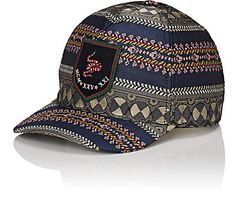 We Adore: The Snake-Embroidered Jacquard Baseball Cap from Gucci at Barneys New York