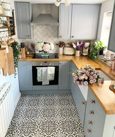 A little look back, nearly two years since we renovated our little kitchen and I wish I'd taken more photos of the process! Real Kitchen, Little Kitchen, Kitchen Redo, Kitchen Layout, Kitchen Remodel, Kitchen Ideas, Basement Kitchen, Basement Ideas, Kitchen Designs
