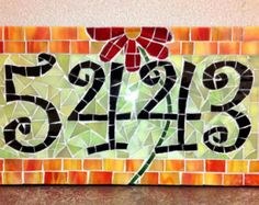 mosaic numbers for house - Google Search