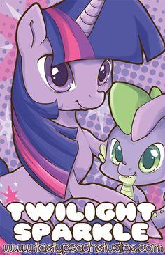 MLP: Twilight Sparkle and Spike by MoogleGurl on deviantART