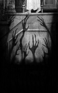 "I so want to do this for Halloween and have the hands back lit with a rocking light so that the shadows reach for the Trick o' Treaters ~ ""Keep In Touch"" by Frank Zumbach"