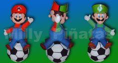 Piñata Mario y Luigi, video juego, piñatas, Milly piñatas exclusivas