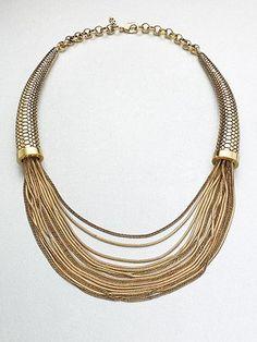 ABS by Allen Schwartz Jewelry - Multi-Row Chain Necklace - Saks.com