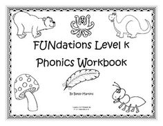 These workbooks follow the Fundations order for teaching beginning sounds. 248 picture cards to introduce sounds being taught plus over 300 worksheets. Print the picture cards on card stock and laminate. These can be stored in a 4x6 index box. Workbook 1 includes the letters  t, b, f, n, m, i, u, c, o, a, g, d, s Workbook 2 includes the letters  e, r, p, j, l, h, k, v, w, y, x, z, qCheck out my other FUNdations productsFUNdations FUN with Digraphs FUNndations Level K Tap it OutFUNdations…