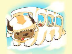 Appabus by TeeTurtle - Avatar: The Last Airbender x Totoro tshirt