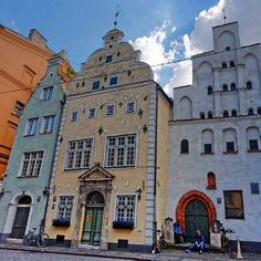 Riga Old Town #threebrothers #riga #oldtown #latvia #travel #tour The three brothers is the oldest complex of dwelling houses in Riga,Latvia.