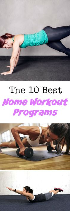The 10 Best Home Workout Programs: 10 killer home workouts that will make you excited to get your sweat on at home! Best Home Workout Program, Workout Programs, At Home Workouts, Summer Workouts, Lifting Workouts, Killer Workouts, Training Workouts, Body Workouts, Fitness Workouts