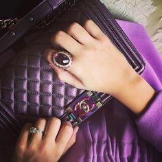 """#closeup from today #chanel bag and gilan jewelry ring ✨#chanelbag #chanelboy #chanellover #chanelhandbag #chaneladdict #purseboppicks #pursebop…"""