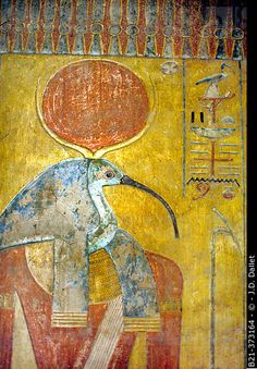 Decoration detail: Tomb of Tutankamon, Kings Valley, Luxor West Bank, Egypt
