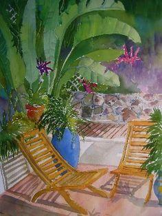Watercolors by Jinx Morgan - Terraces & Hammocks