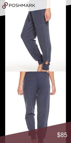 Love Knit Vented Jogger Love knit jogger with drawstring and ankle vent detail. By Chaser. Blue Fabric: cotton Retail $95.00 Style Number: CW6981_S Chaser Pants Track Pants & Joggers